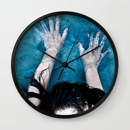Blue Sky is touching water-ground Wall Clock