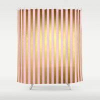 striped Shower Curtains featuring Striped by Better HOME