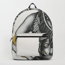 Tribal Girl withGold Foil Jewellery Backpack