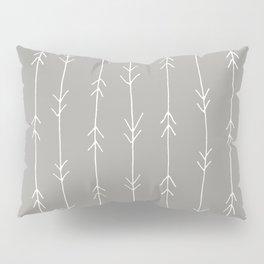 Grey, Fog: Arrows Pattern Pillow Sham