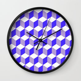 Diamond Repeating Pattern In Nebulas Blue and Grey Wall Clock