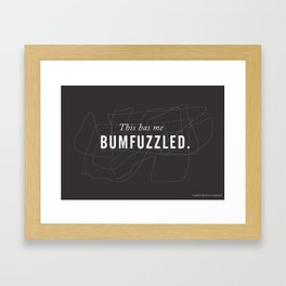 Funny Words Collection > BUMFUZZLE Framed Art Print
