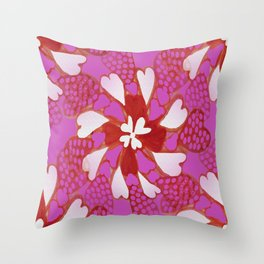 Kaleidoscope of Love Throw Pillow