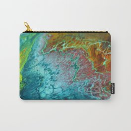 70's - Abstract Acrylic Pour Carry-All Pouch