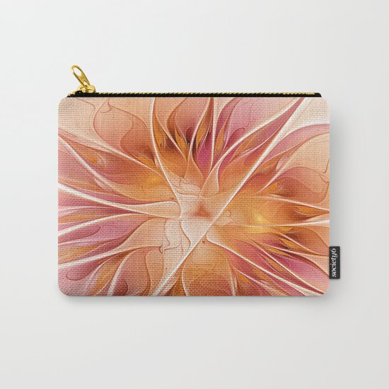 Floral Impression, Abstract Fractal Art Carry-All Pouch