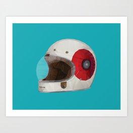 Bell Bullitt Cafe Racer Helmet Polygon Art Art Print
