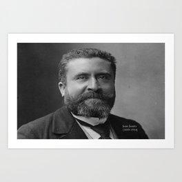 Portrait of Jean Jaurès By Nadar Art Print