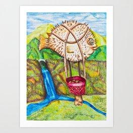 The Blowfish Adventure - Mazuir Ross Art Print