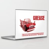grease Laptop & iPad Skins featuring Grease Movie Poster by FunnyFaceArt