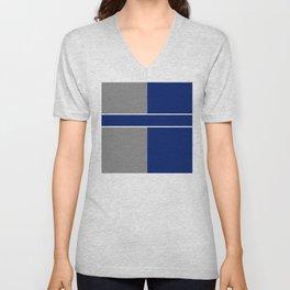 Team Color 6....black,gray Unisex V-Neck