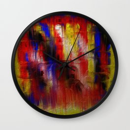 Primary Metal Wall Clock
