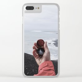 Navigate Compass (Color) Clear iPhone Case