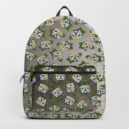 English Bulldog - Day of the Dead Sugar Skull Dog Backpack