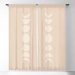 Minimal Moon Phases - Ethereal Light Blackout Curtain
