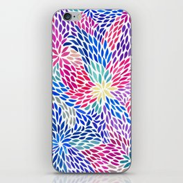 Flowing Leaves Purple & Blue Pattern iPhone Skin
