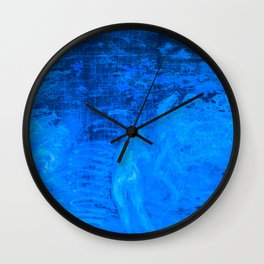 In liquid Indigo Wall Clock