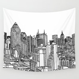 New York View 2 Wall Tapestry