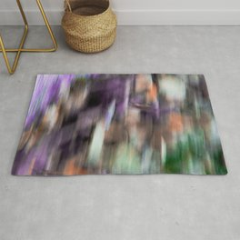 Fast in Flight - A Colorful Abstract Motion Blur Rug