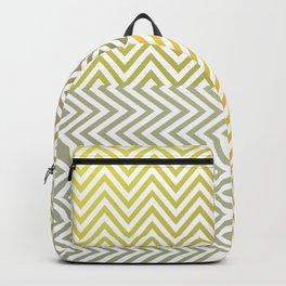Geometric Lines Pattern Yellowish Backpack