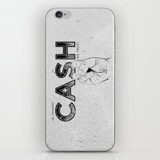 In Johnny Cash We Trust. iPhone & iPod Skin