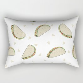 Tacos pattern food art taco design dorm college foodie Rectangular Pillow
