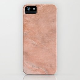 Peach Marble texture iPhone Case