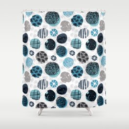 Blue Pebbles Shower Curtain
