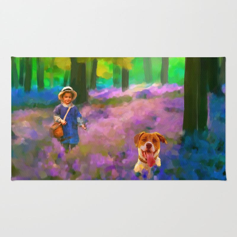 A Boy And His Dog Area Rug by Donnadavisart RUG7882939
