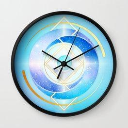 Floating Geometry :: Winter Swirl Wall Clock