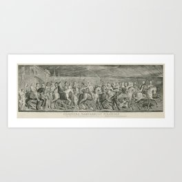 The Canterbury Pilgrims by William Blake Art Print