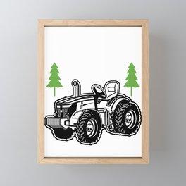 Farmer Papa Dad Father Daddy Tractor Farm Gift Framed Mini Art Print