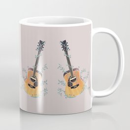 Acoustic Guitar with Vines Illustration  Coffee Mug