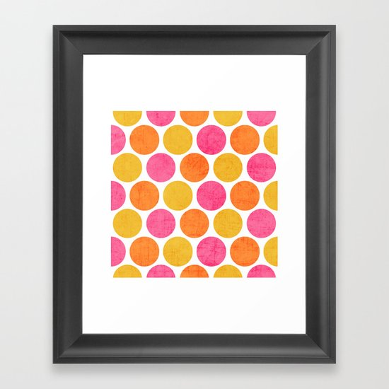 summer polka dots Framed Art Print