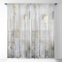Metallic Abstract Sheer Curtain