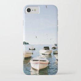 Boats of Hvar   Croatia ocean sea fine art photography print   Wanderlust travel poster iPhone Case