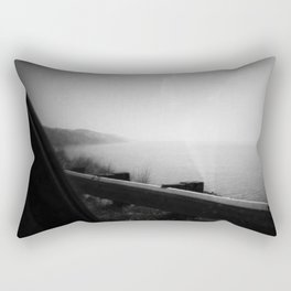 Black and White Big Sur Rectangular Pillow