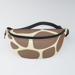 Animal Print (Giraffe Pattern) - Brown Yellow Fanny Pack