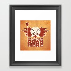 We All Float  Framed Art Print