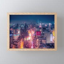 Retro Future Tokyo Framed Mini Art Print