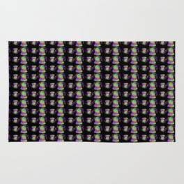 Bell rainbow in black and dots Rug