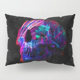 Phantoms vs Fire's Neon Skull Pillow Sham