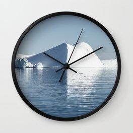 iceberg reflection at Disko Bay Wall Clock