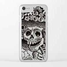 Calavera Catrina | Black and White Clear iPhone Case
