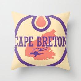 CAPE BRETON OILERS Throw Pillow
