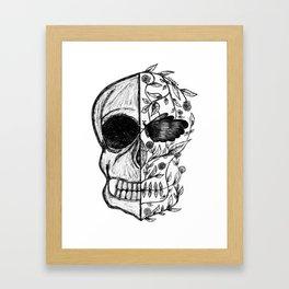 SKULL : HALF DEAD / HALF ALIVE Framed Art Print