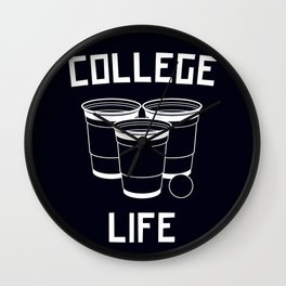 College Life Inverted Wall Clock