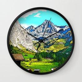"Austria - drawing ""Großglockner"" Wall Clock"