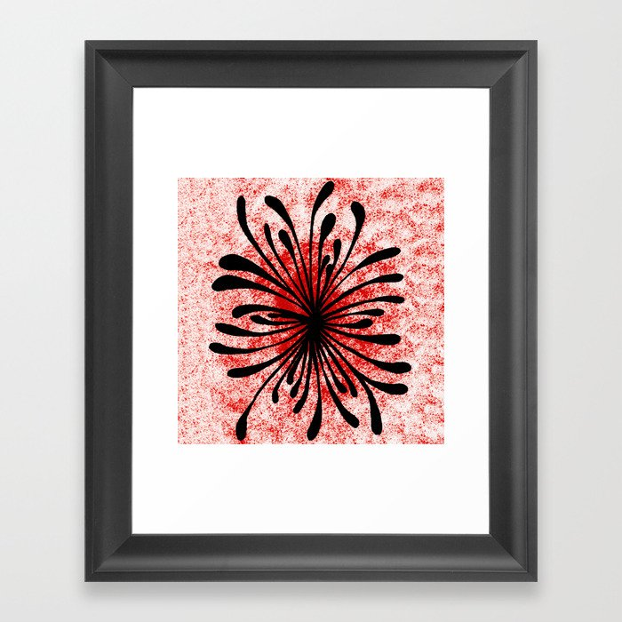 Doodled Mooka Flower Framed Art Print