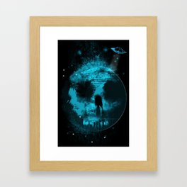 Once In A Blue Moon Framed Art Print