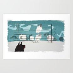 A sheep odyssey Art Print